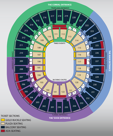 NFR Seating Info